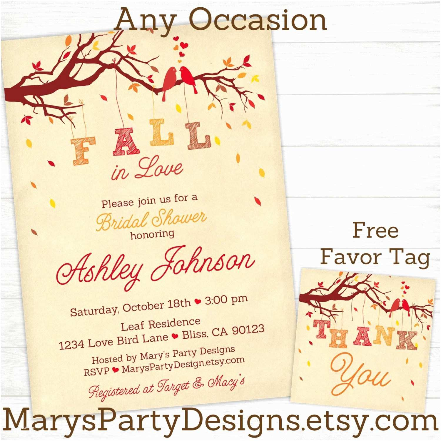 Coed Wedding Shower Invitations Fall In Love Bridal Shower Invitations Invites Co Ed Wedding