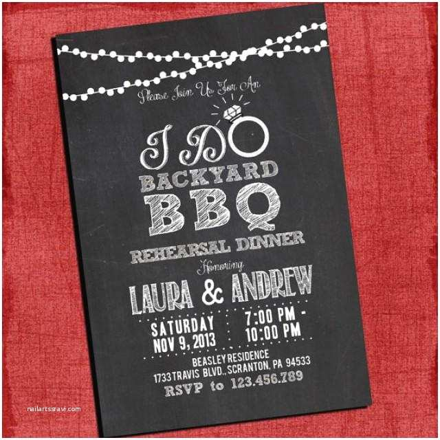 "Coed Wedding Shower Invitations Printable ""i Do"" Backyard Bbq Dinner Barbecue Couples"