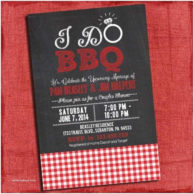 """Coed Wedding Shower Invitations Printable """"i Do"""" Bbq Barbecue Couples Coed Wedding Shower"""