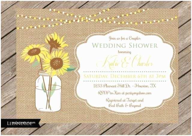 Coed Wedding Shower Invitations Rustic Couples Coed Wedding Shower Invitation Burlap