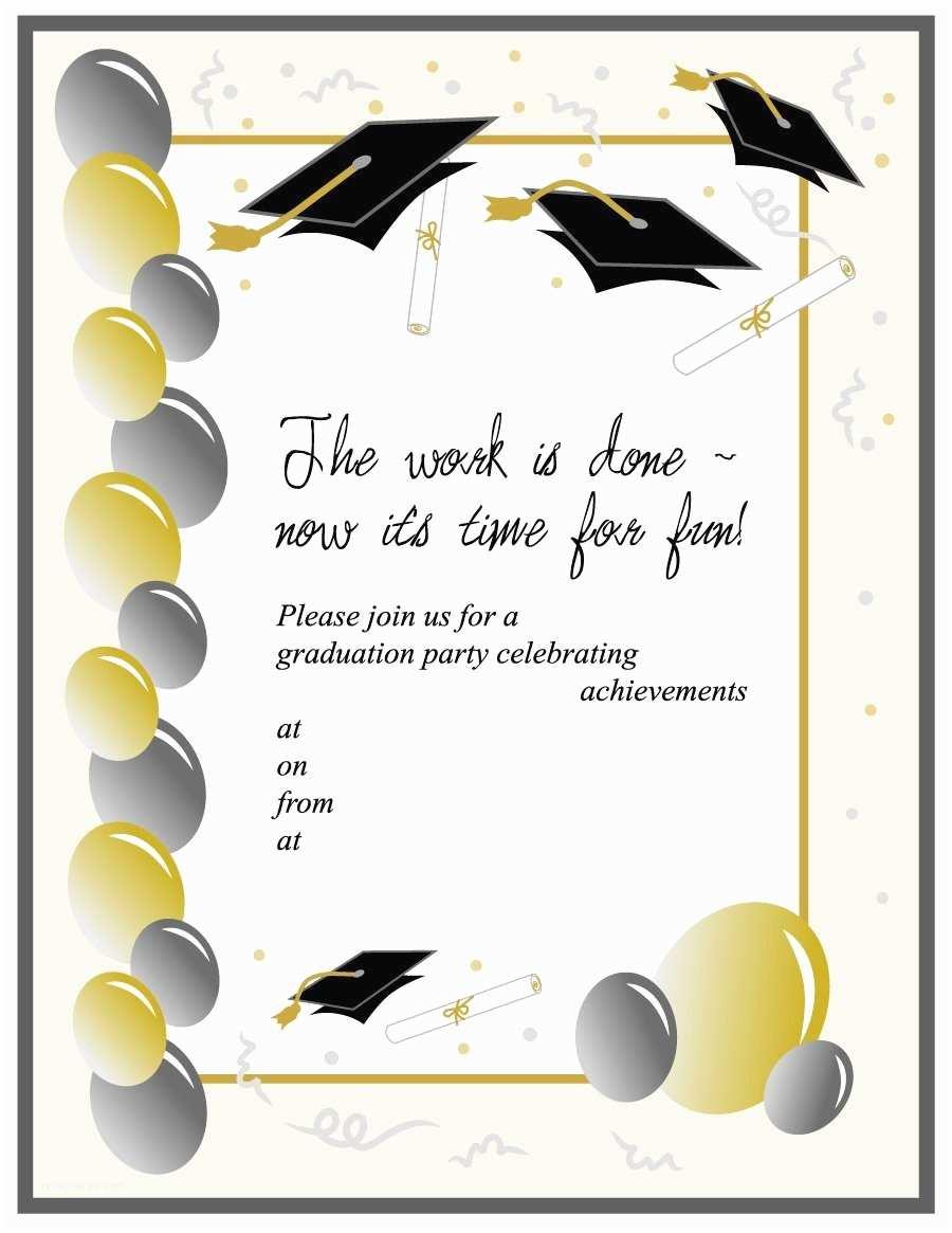College Graduation Invitation Templates 40 Free Graduation Invitation Templates Template Lab