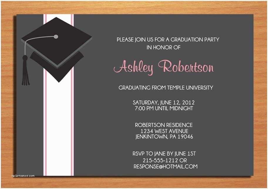 College Graduation Invitation Templates Amazing Layout Graduation Invitation Card Incredible Black