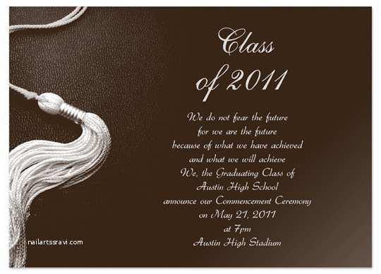 College Graduation Invitation Templates Download Kit Graduation Invitation Announcement Brown Word
