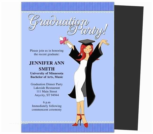 College Graduation Invitation Templates Free Graduation Invitation Templates for Word