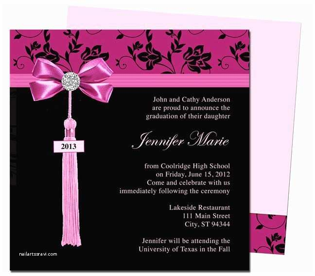 College Graduation Invitation Templates Graduation Announcements Templates Feminine Style Design