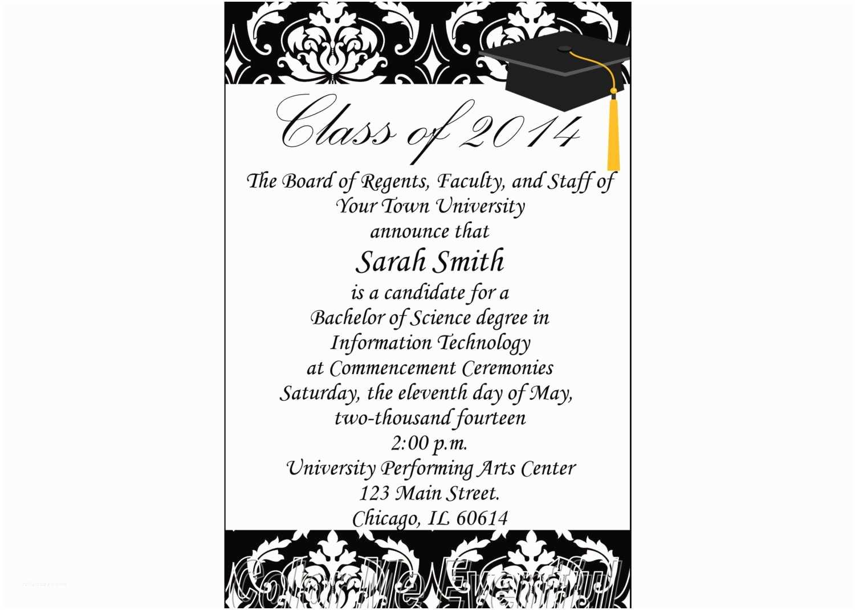 College Graduation Invitation Templates Items Similar to College Graduation Announcement