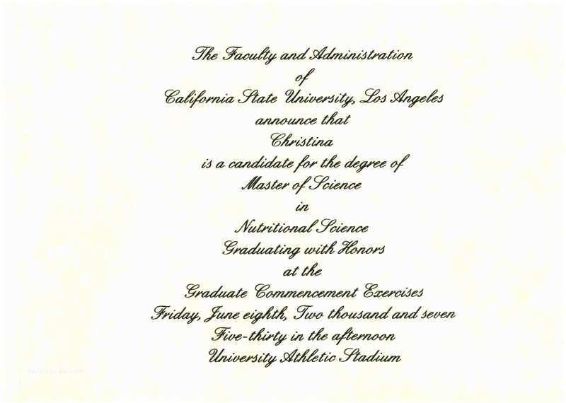 College Graduation Invitation Wording Graduation Announcement Sample – Meichu2017
