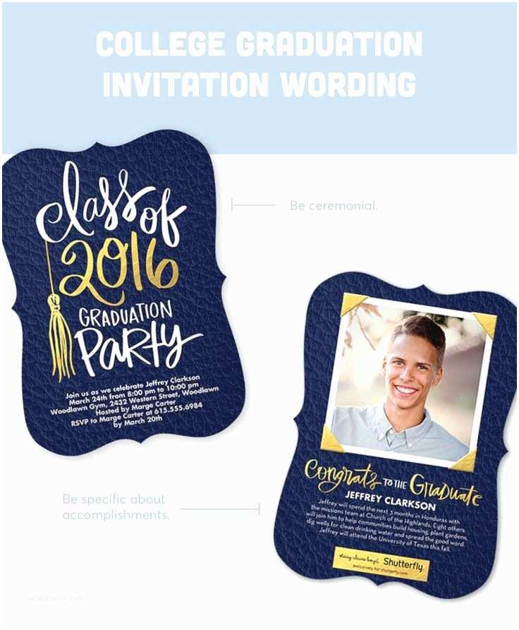 College Graduation Invitations Graduation Invitation Wording Guide