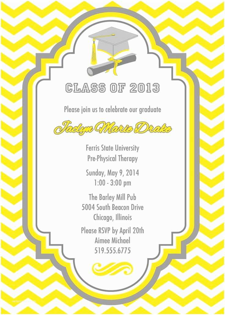 College Graduation Party Invitation Wording 60 Best Graduation Invitation Ideas Images On Pinterest