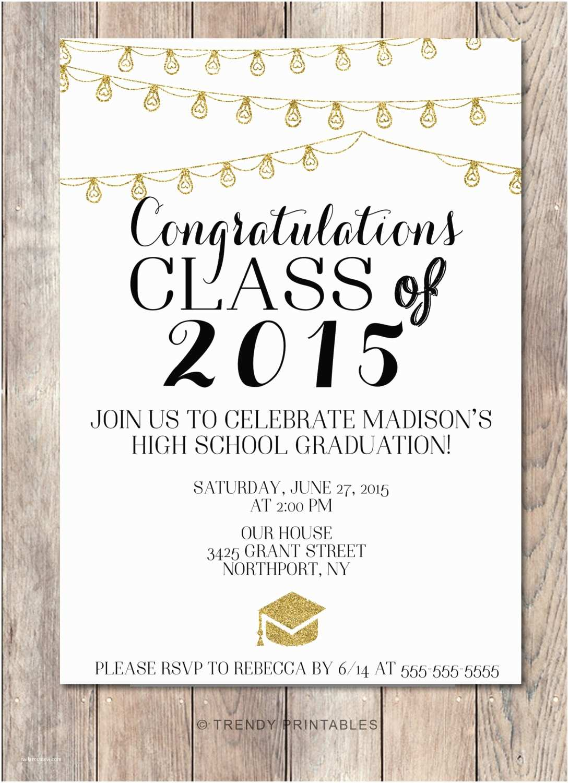 College Graduation Party Invitations Graduation Party Invitation Class 2015 High School