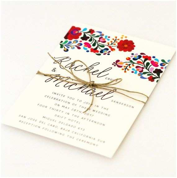 Colorful Wedding Invitations 25 Best Ideas About Mexican Wedding Invitations On