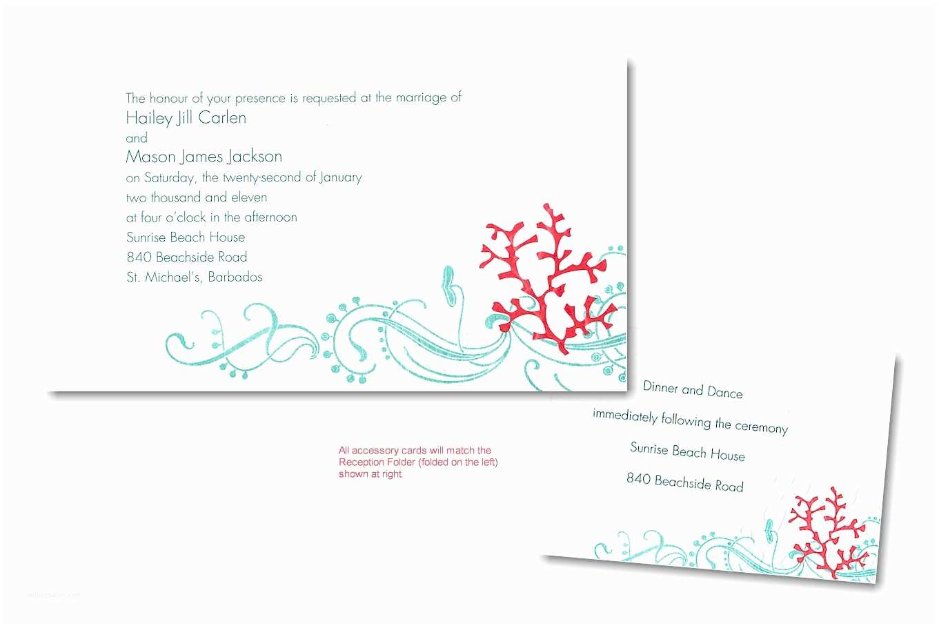 Colorful Wedding Invitations Colorful Coral Recycled Paper Wedding Invitation