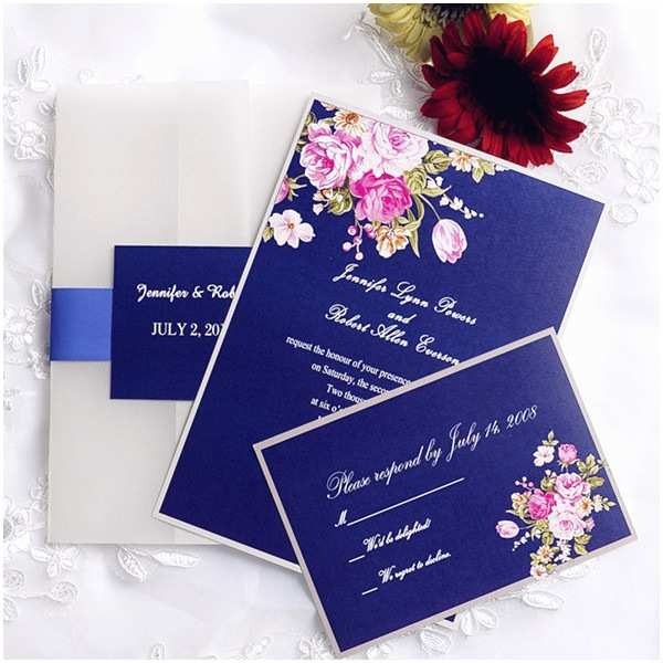 Colorful Wedding Invitations Colorful Floral Classic Pocket Wedding Invitation Iwgy040