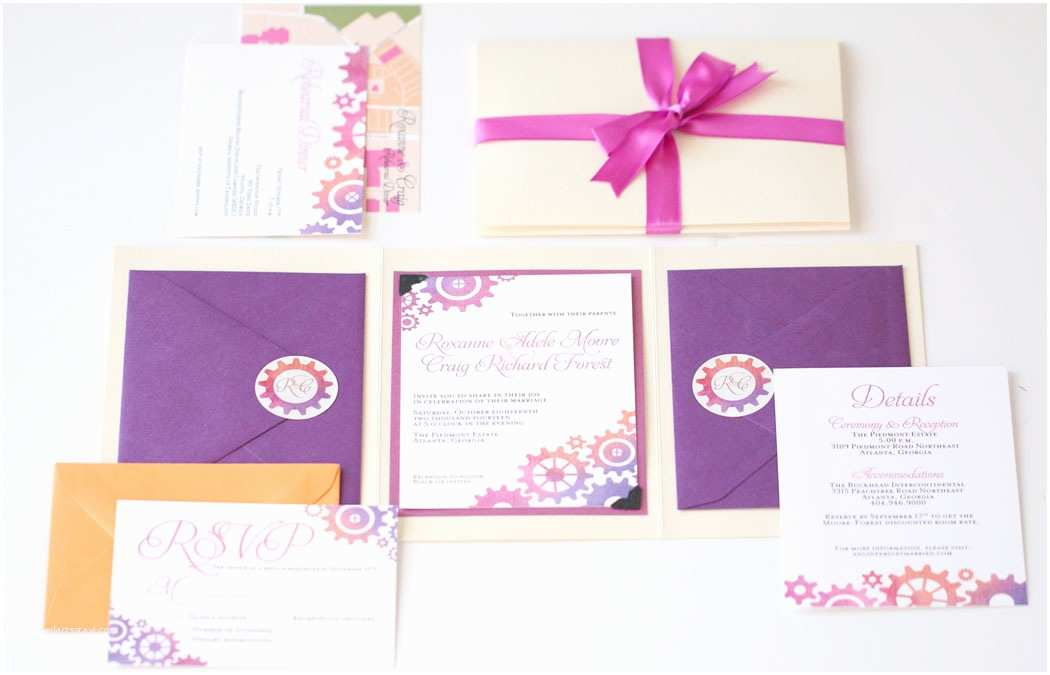 Colorful Wedding Invitations Colorful Wedding Invitations