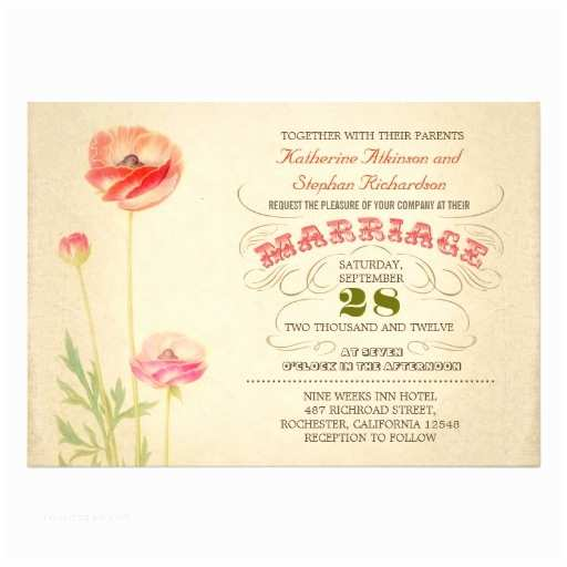 Colorful Wedding Invitations Vintage Colorful Typographic Wedding Invitation