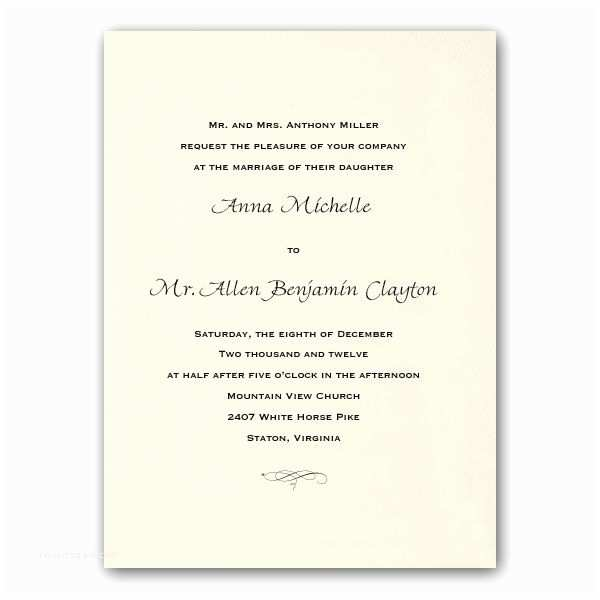 Common Wedding Invitation Wording Wedding Invitation Templates Traditional Wedding