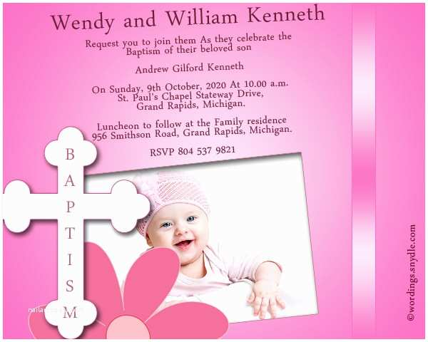 Communion Invitation Wording Baptism Best