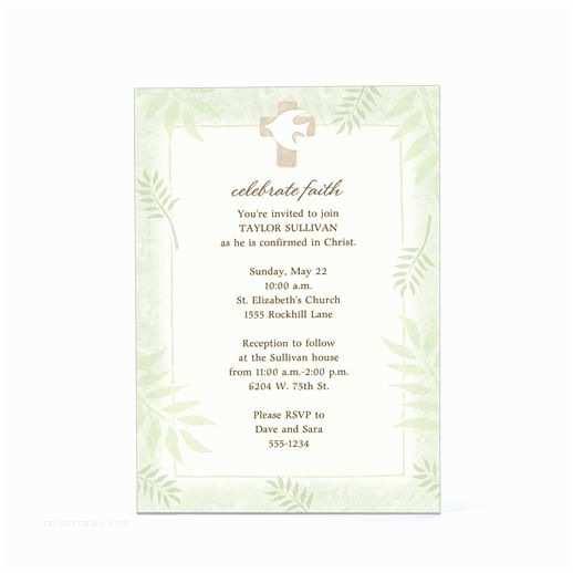 Communion Invitation Wording Confirmation Invitation Wording