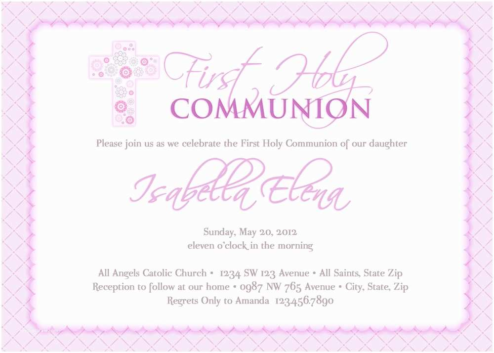girls first munion invitations