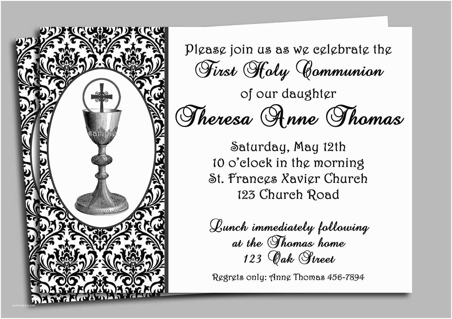 Communion Invitations First Holy Munion Invitation Cards Free