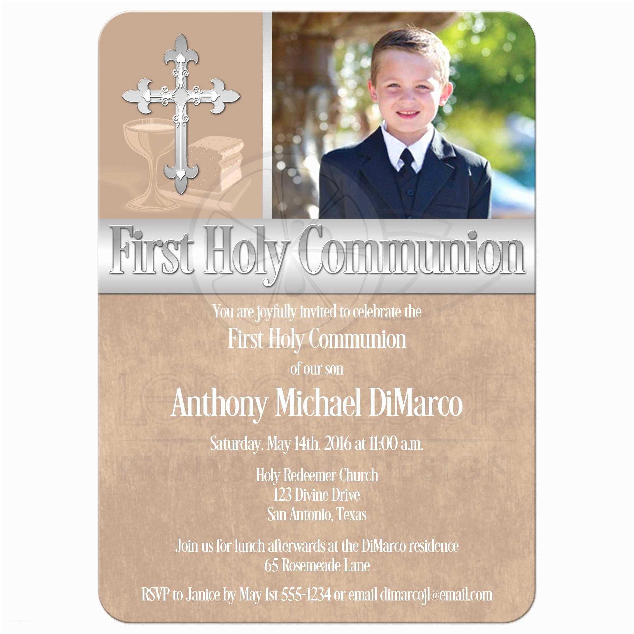 Communion Invitations First Holy Munion Invitation Template