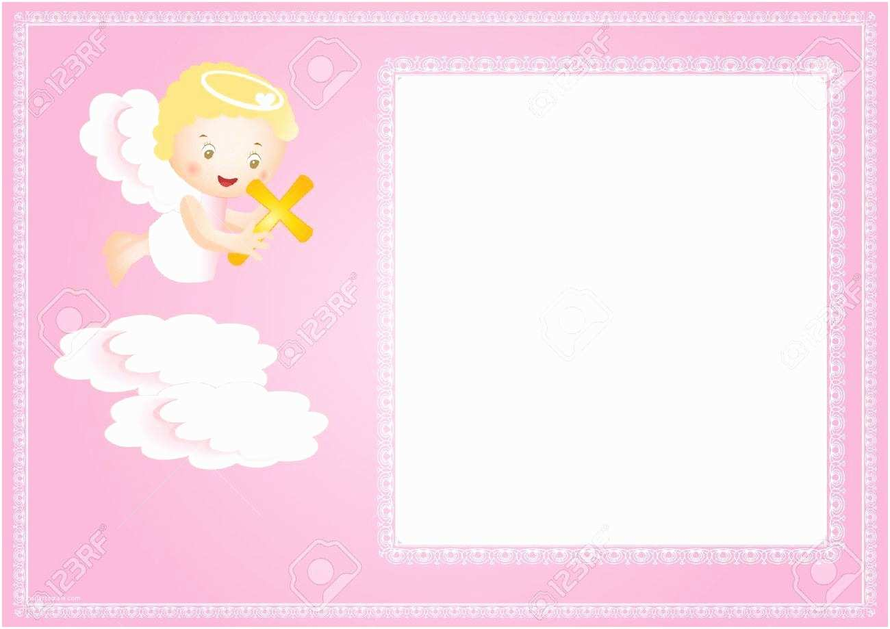 Communion Invitations for Girl Baby Girl Baptism Invitation Free Templates Yourweek