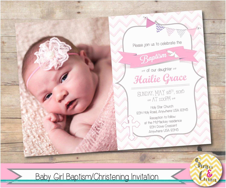 Communion Invitations for Girl Girl Baptism Invitation Christening Invite Personalized