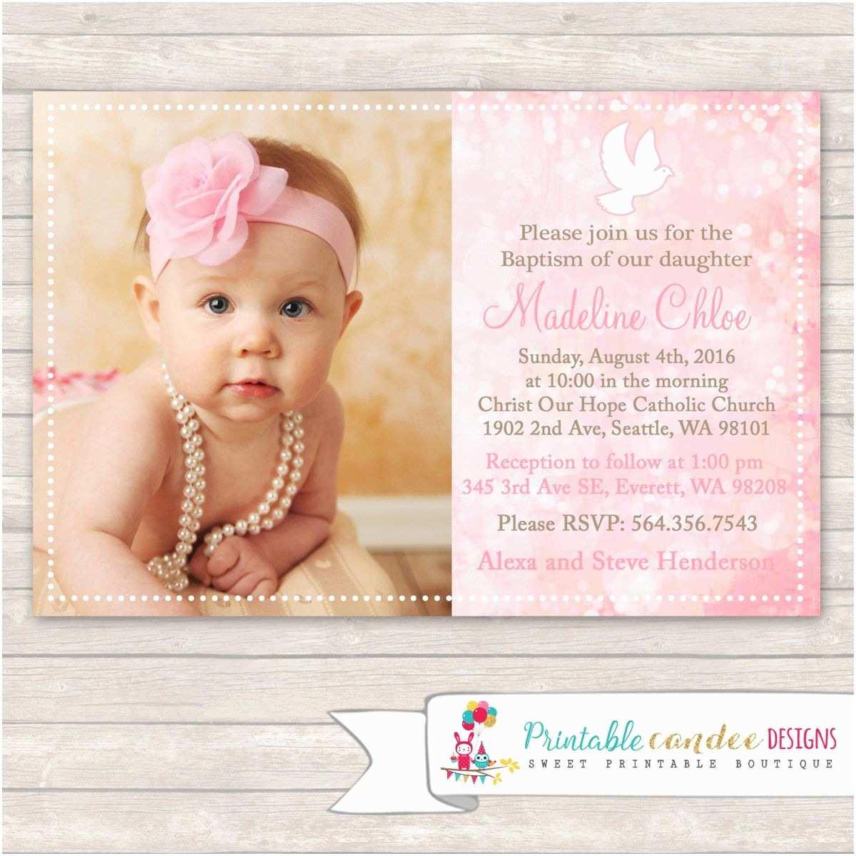 Communion Invitations for Girl Girl Baptism Invitations Girl Baptism Invitations Card