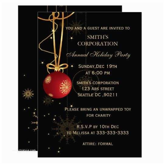 Company Christmas Party Invitations Elegant Corporate Holiday Party Invitations