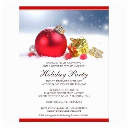 Company Christmas Party Invitations This Festive Corporate Holiday Party Invitation Features A