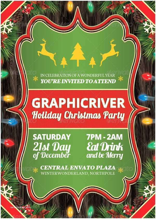 Company Holiday Party Invitation 20 Christmas Party Templates Psd Eps Vector format