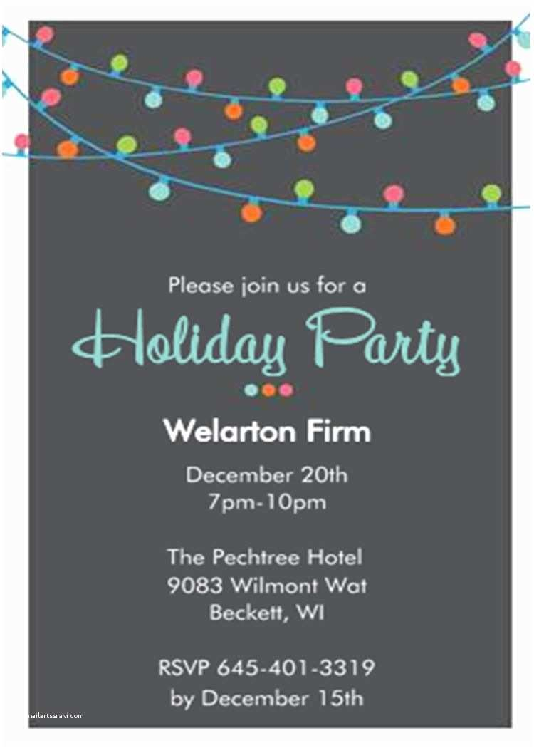 Company Holiday Party Invitation Christmas Holiday Lights Fice Pany Party Invitations