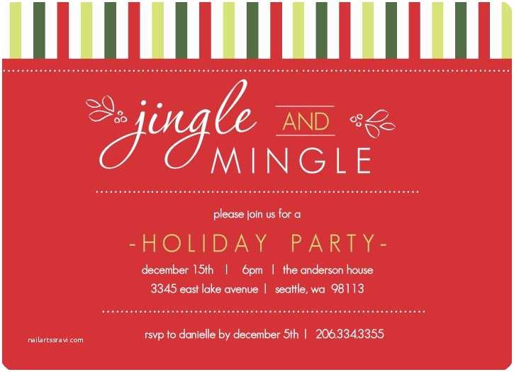 Company Holiday Party Invitation Christmas Invite Wording Holiday Invite by Purpletrail