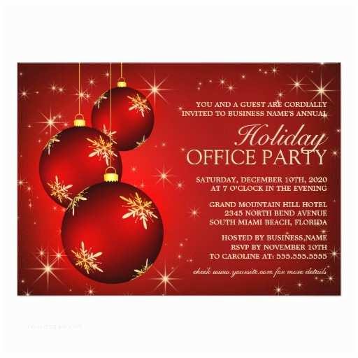 Company Holiday Party Invitation Corporate Holiday Party Invitation