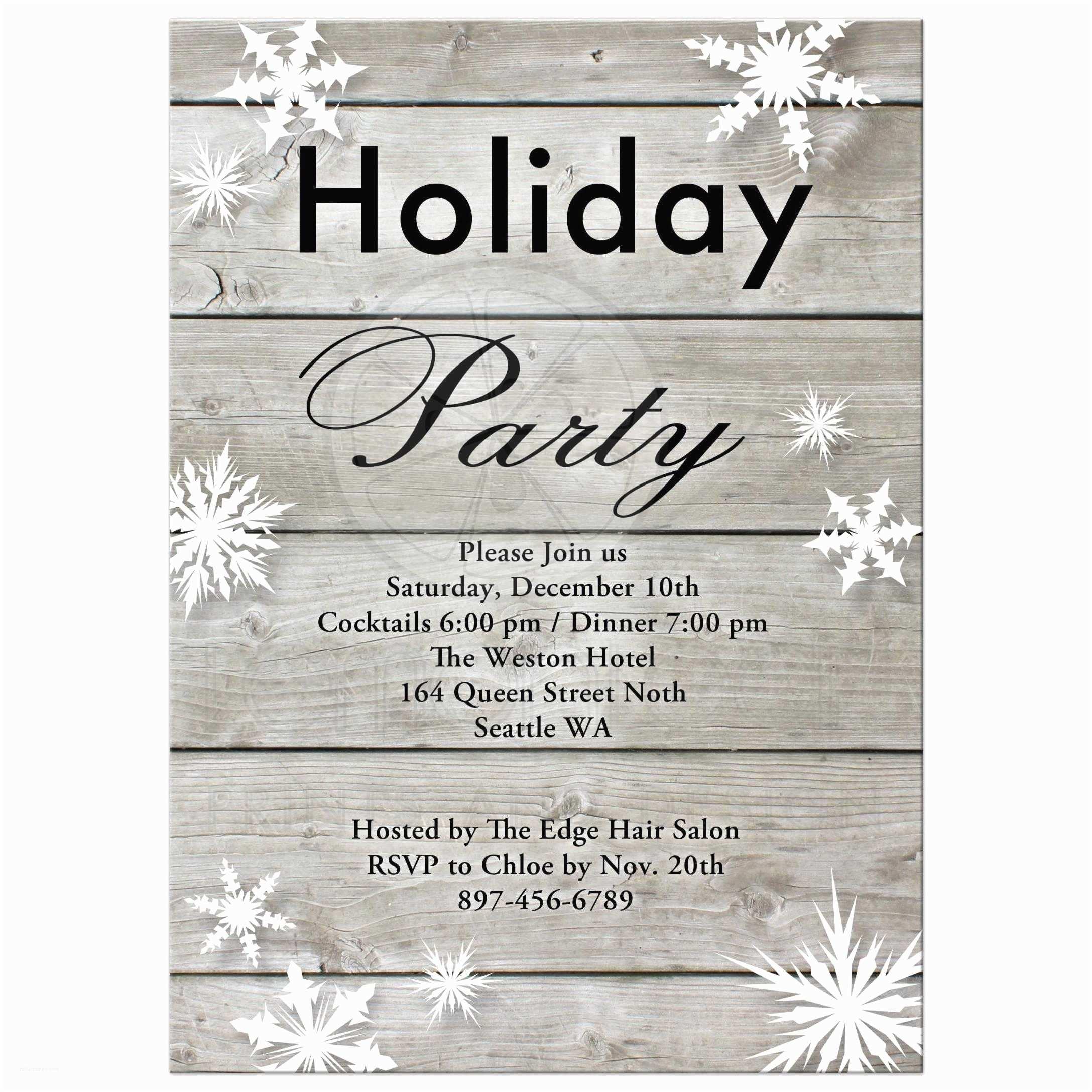 Company Holiday Party Invitation Corporate Holiday Party Invitation On Barn Board