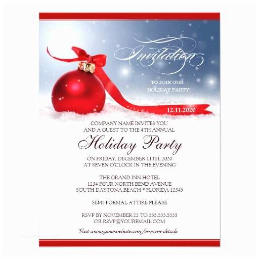 Company Holiday Party Invitation Corporate Holiday Party Invitation Template