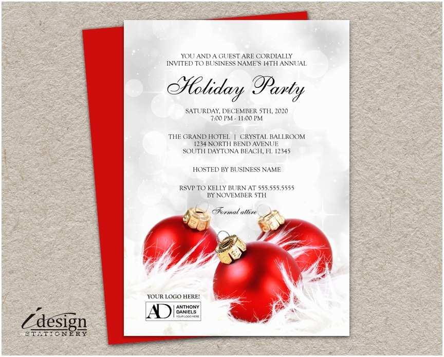 Company Holiday Party Invitation Corporate Holiday Party Invitation with Pany Logo Diy