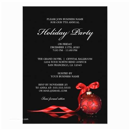 Company Holiday Party Invitation Corporate Holiday Party Invitations