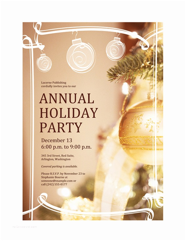 Company Holiday Party Invitation Download Free Printable Invitations Of Holiday Party