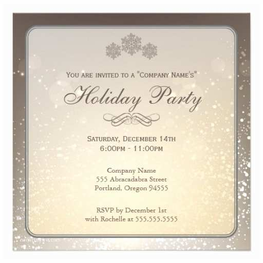 Company Holiday Party Invitation Elegant Holiday Party Pany Invitation