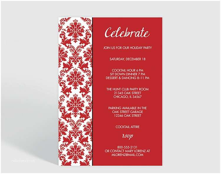 Company Holiday Party Invitation Holiday Party Corporate Party Invitation