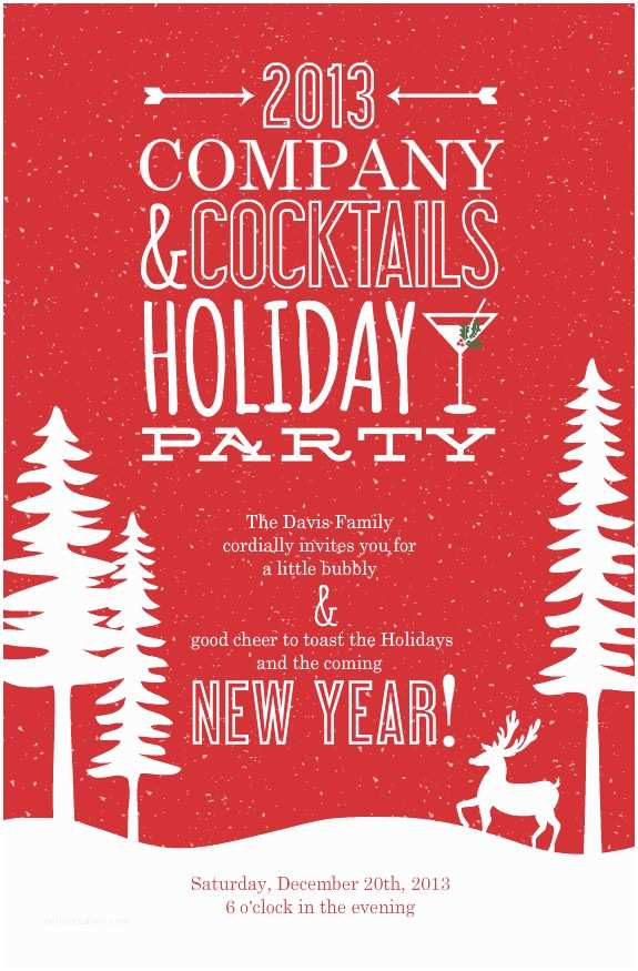 Company Holiday Party Invitation Pany Christmas Party Invitations