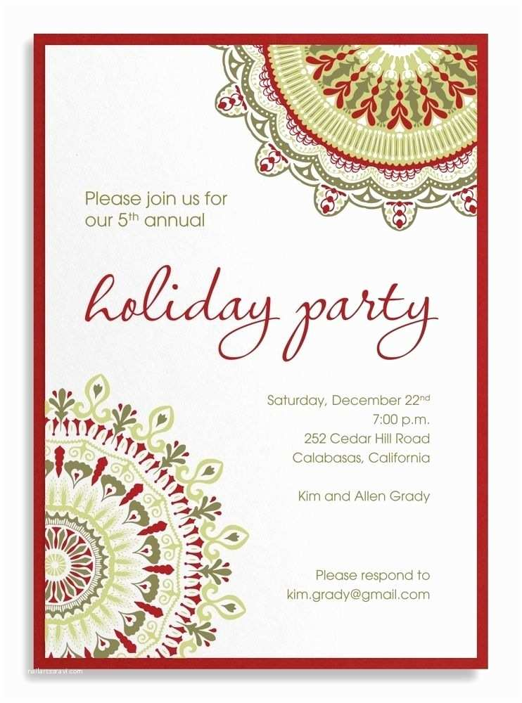 Company Holiday Party Invitation Pany Party Invitation Sample