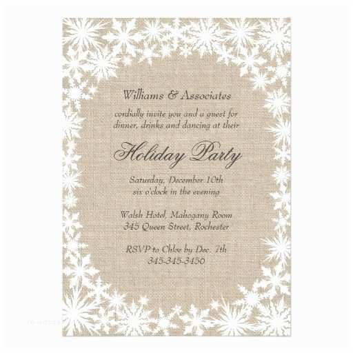 Company Holiday Party Invitation Winter Lace Corporate Holiday Party Invitation Ladyprints