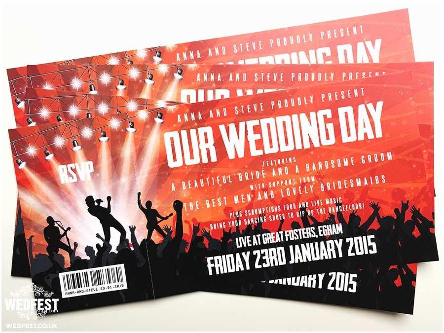 Concert Ticket Wedding Invitation Concert themed Wedding