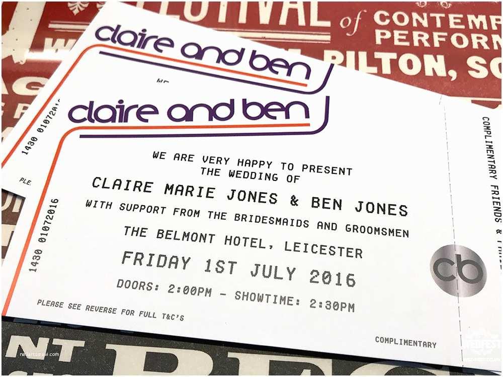 Concert Ticket Wedding Invitation Concert Ticket Invitations