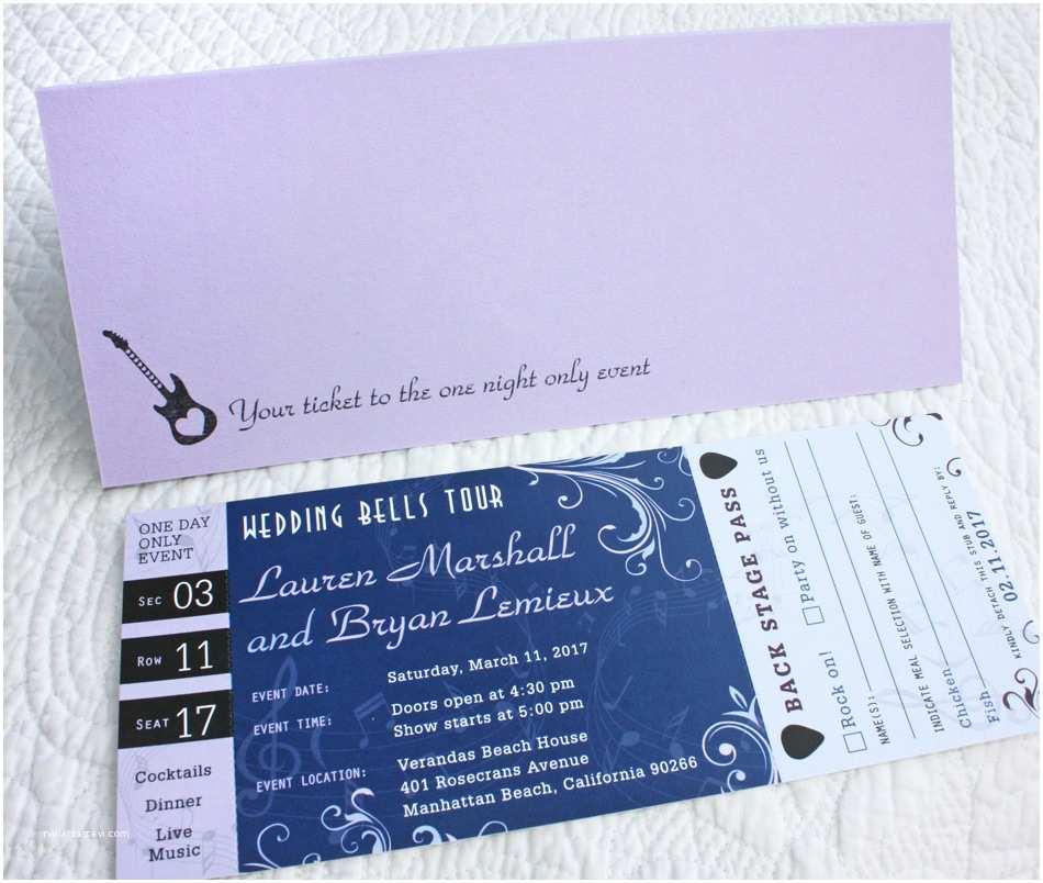 Concert Ticket Wedding Invitation Concert Ticket Wedding Invitation Sample Pack Free Items