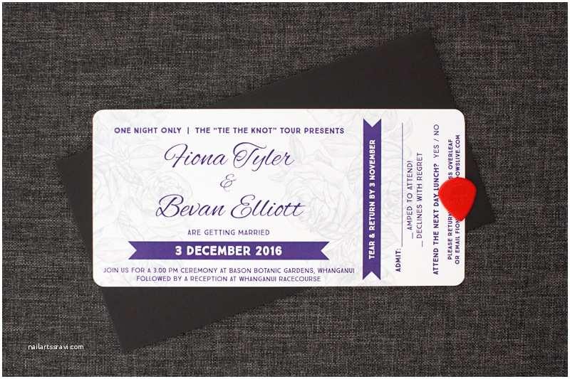 Concert Ticket Wedding Invitation Concert Ticket Wedding Invitations Be My Guest