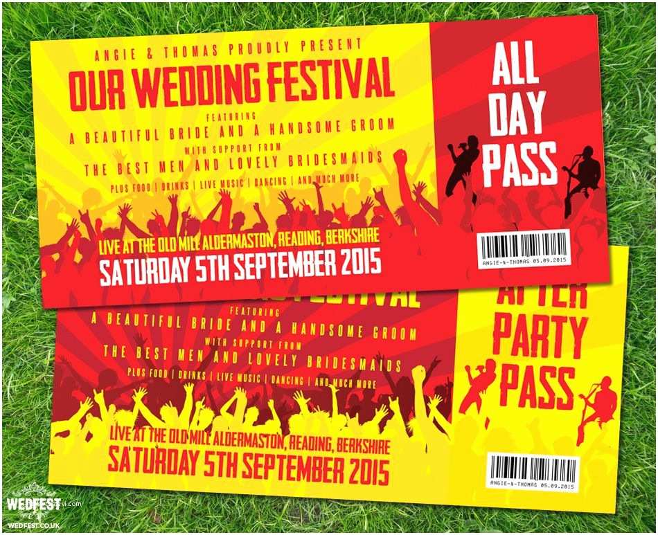 Concert Ticket Wedding Invitation Concert Ticket Wedding Invitations