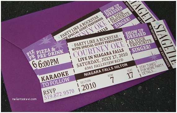 Concert Ticket Wedding Invitation Post Wedding Concert Ticket Invitation by Papercakedesigns
